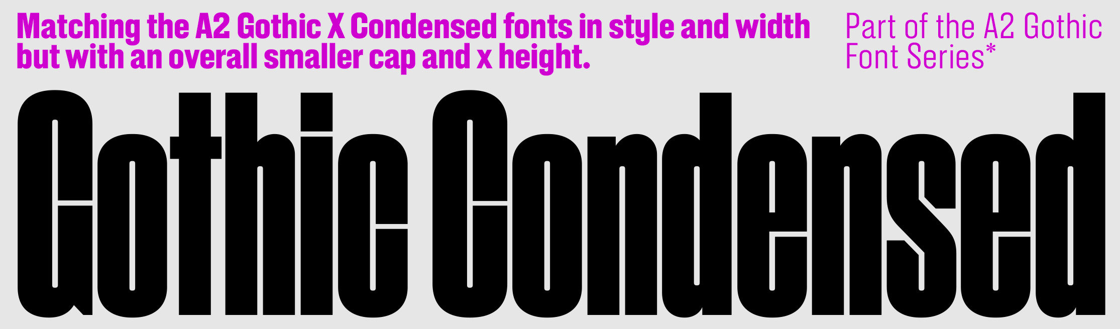 A2 Gothic Condensed sample