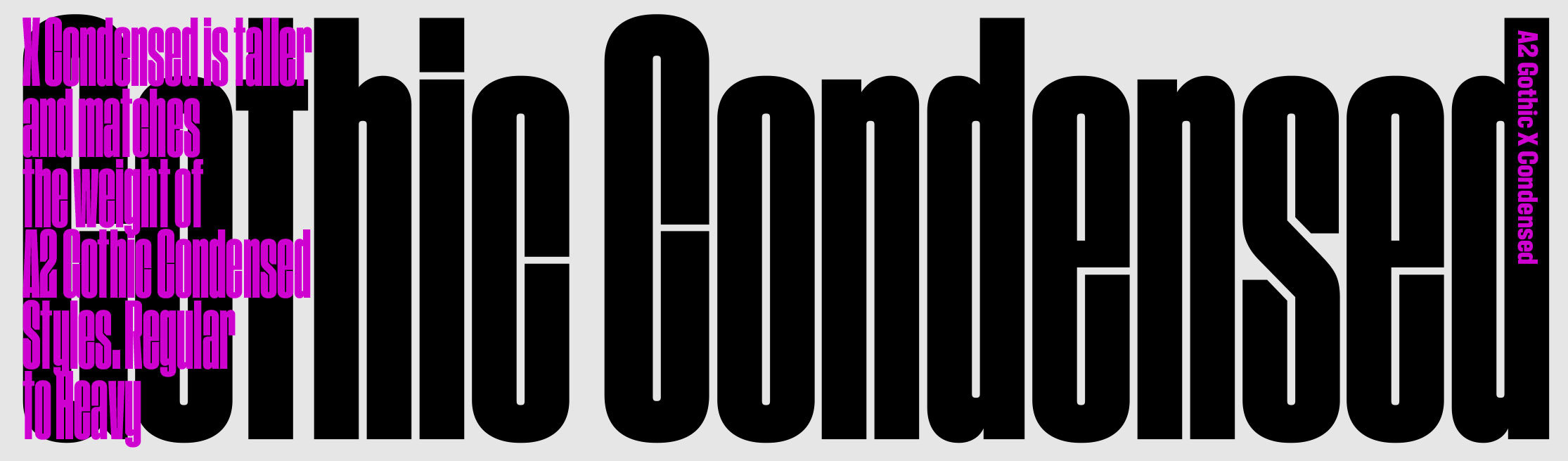 A2 Gothic X Condensed sample
