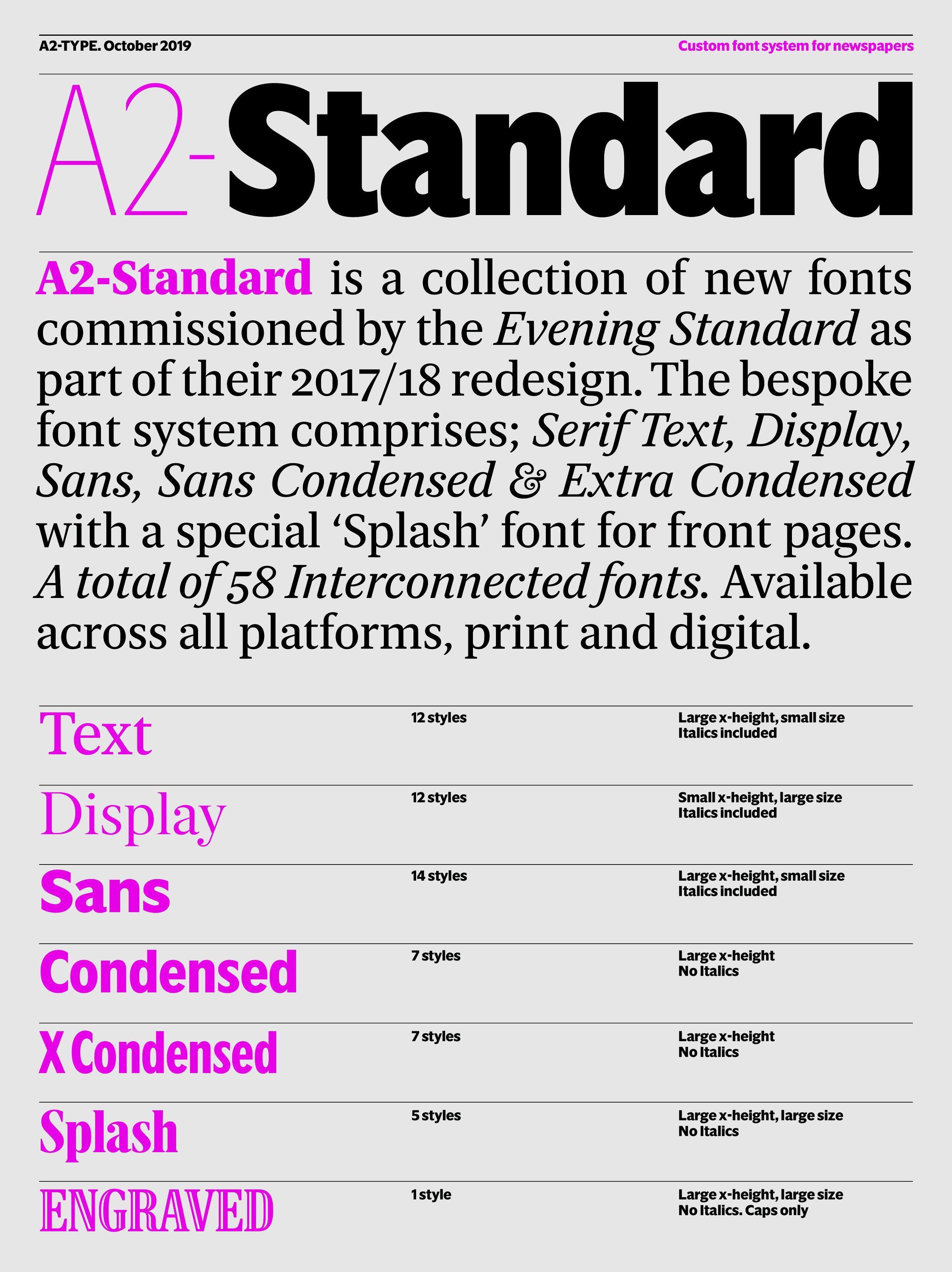 A2 Standard sample