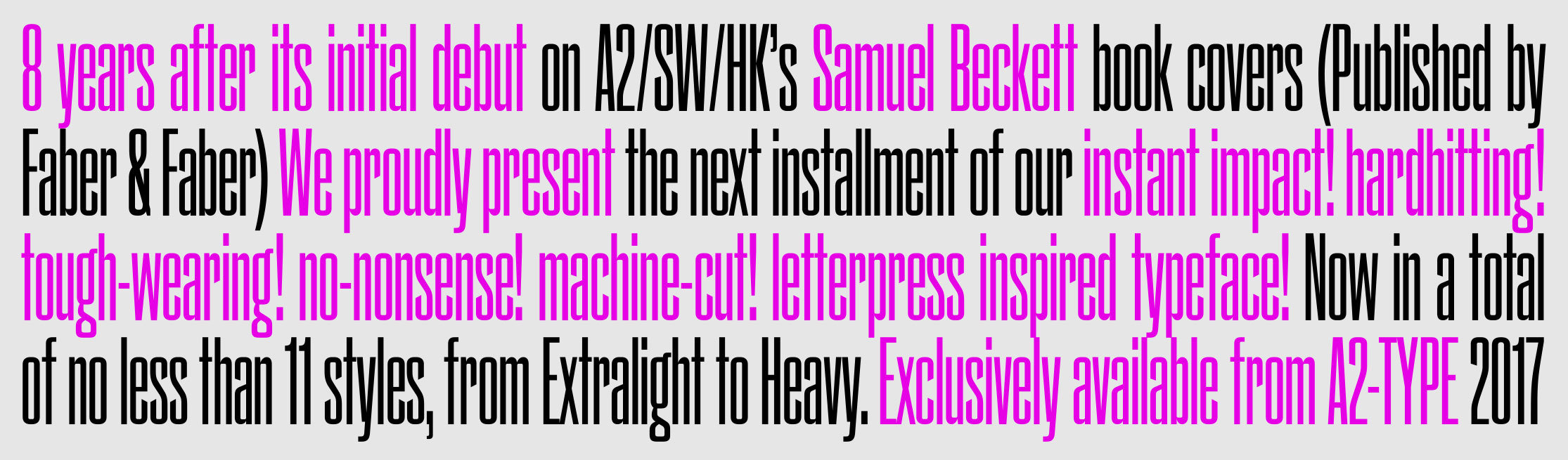 Beckett sample