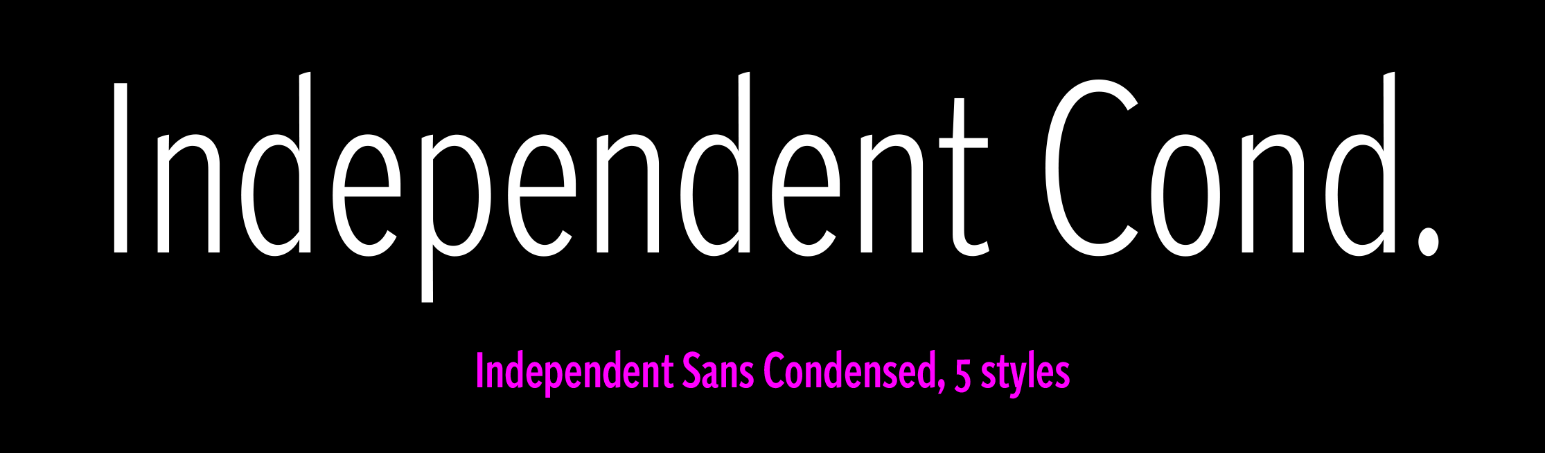 Independent Sans Condensed sample