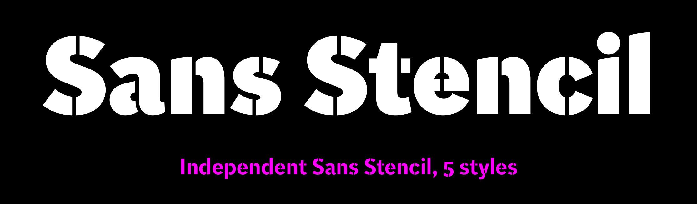 Independent Sans Stencil sample