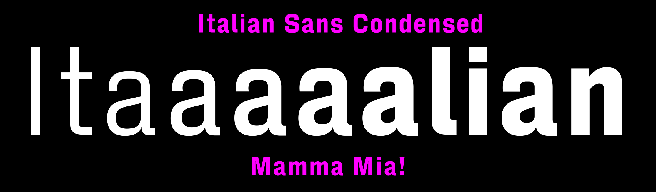 Italian Sans Condensed sample