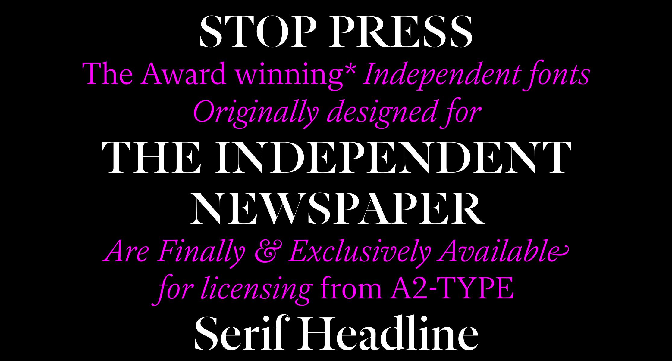 Independent Headline sample
