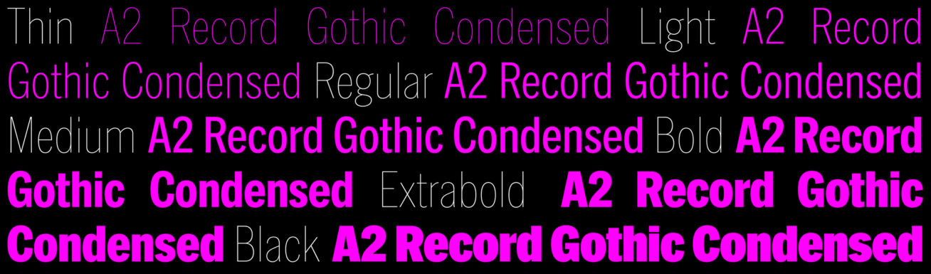 A2 Record Gothic | A2-TYPE
