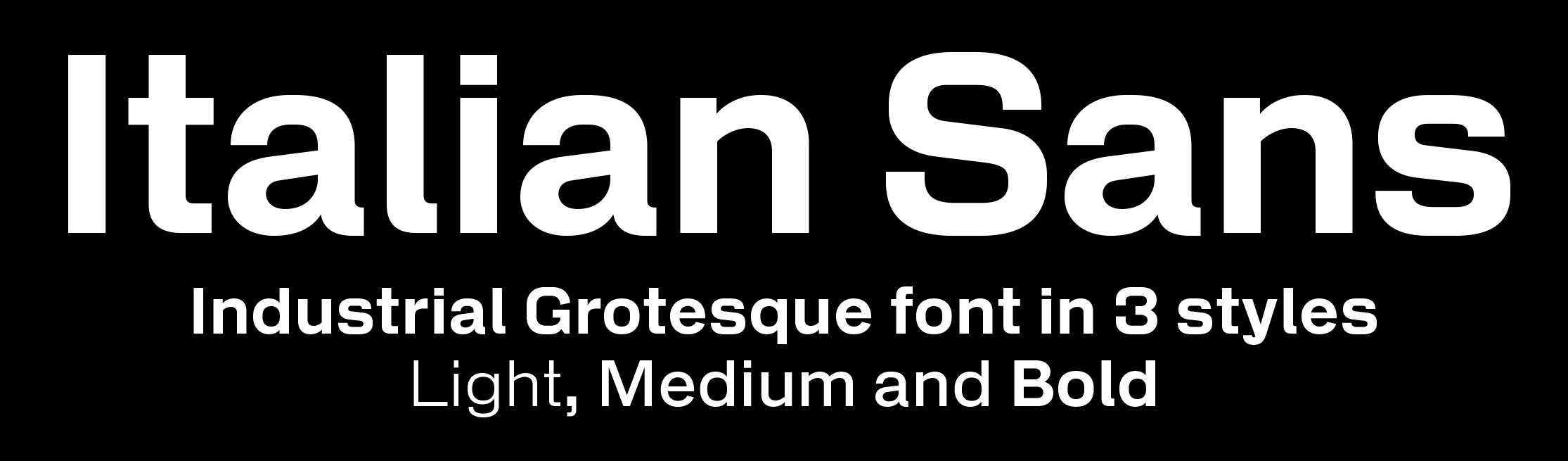 Italian Sans sample