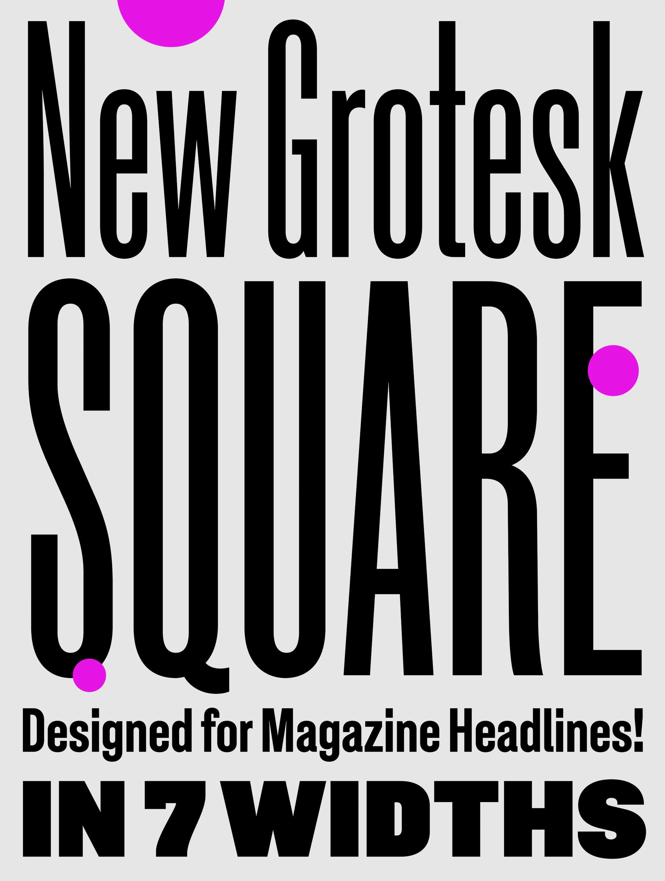 New Grotesk Square sample