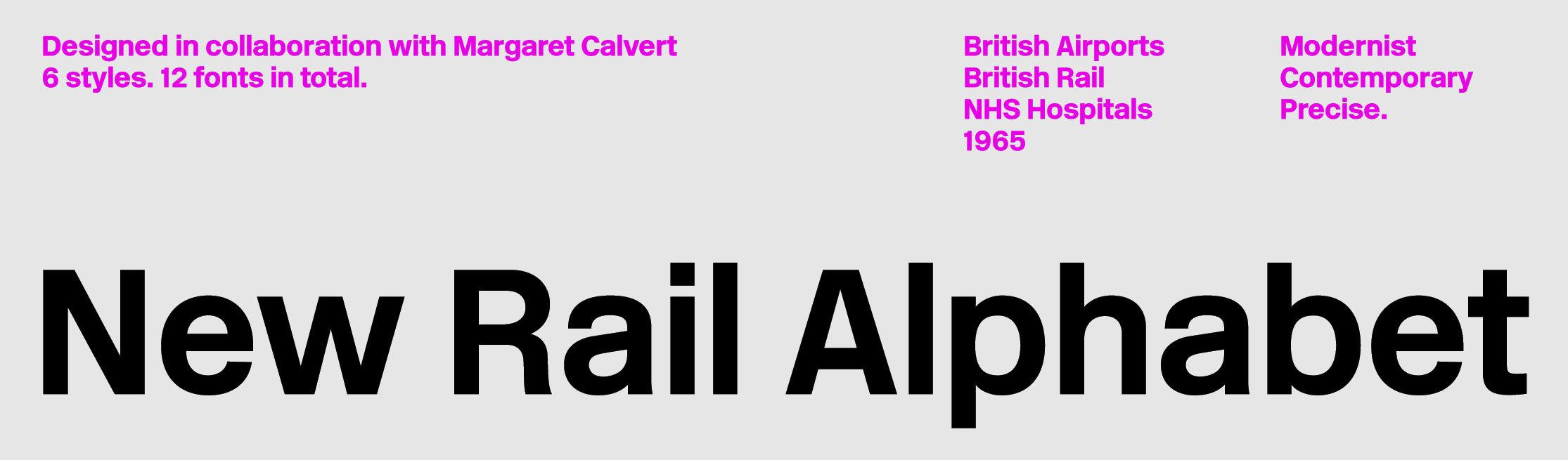 New Rail Alphabet sample