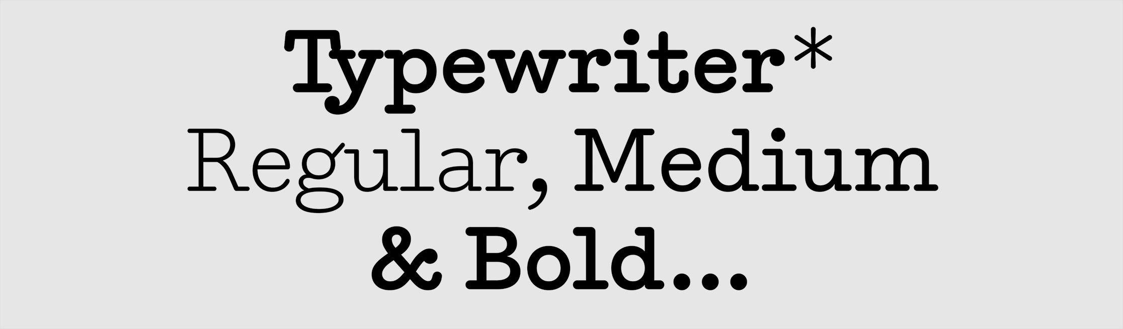 Typewriter sample